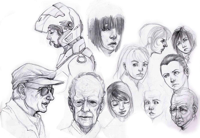 Sketchbook compilation 2 by velsen