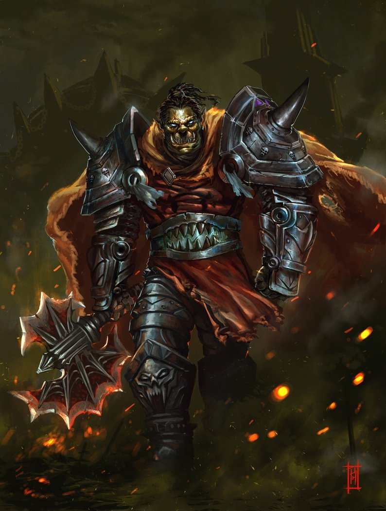 Orc Death Knight by nkabuto