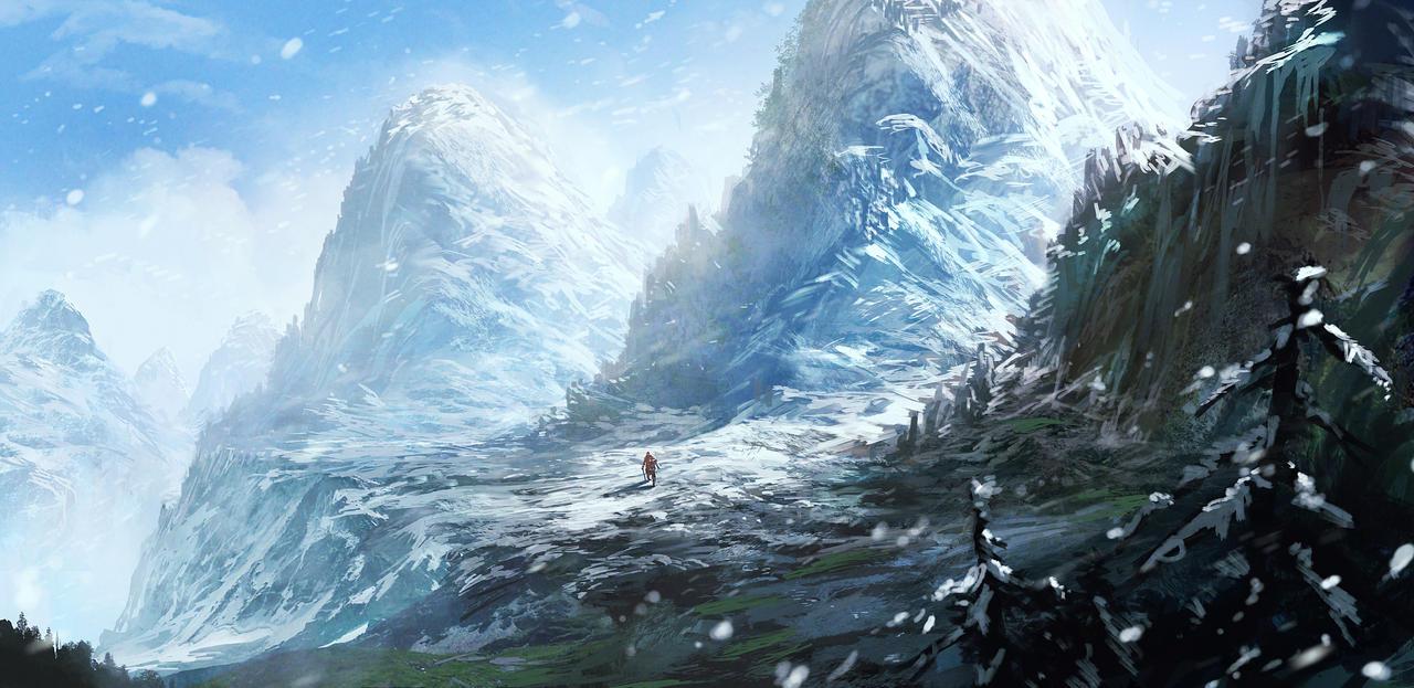 Snow Mountain by nkabuto
