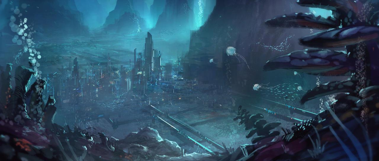 [OB;015] Vu'Kulmur System Underwater_city_by_nkabuto-d473jux