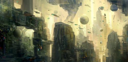 Sci-fi City 02 by nkabuto