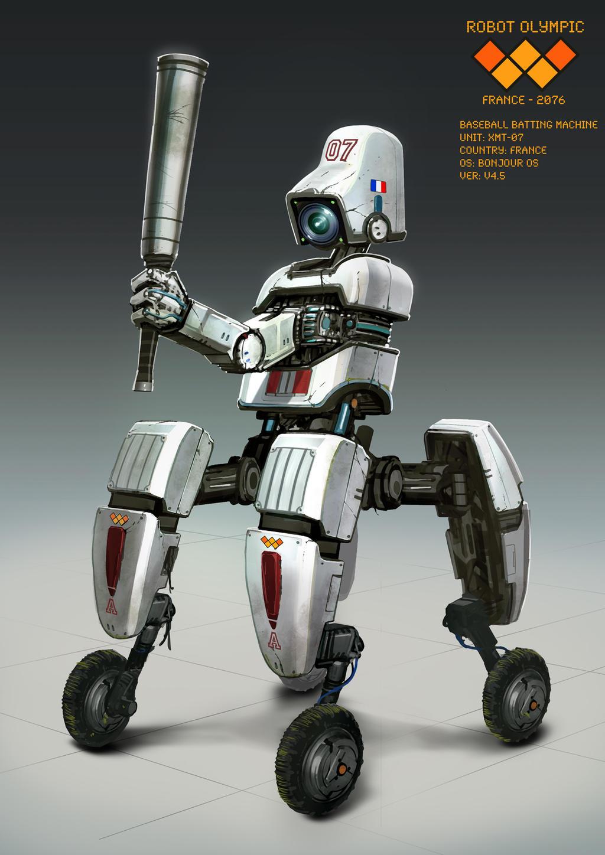 Baseball Robot by nkabuto