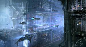 Underwater Cyberpunk City