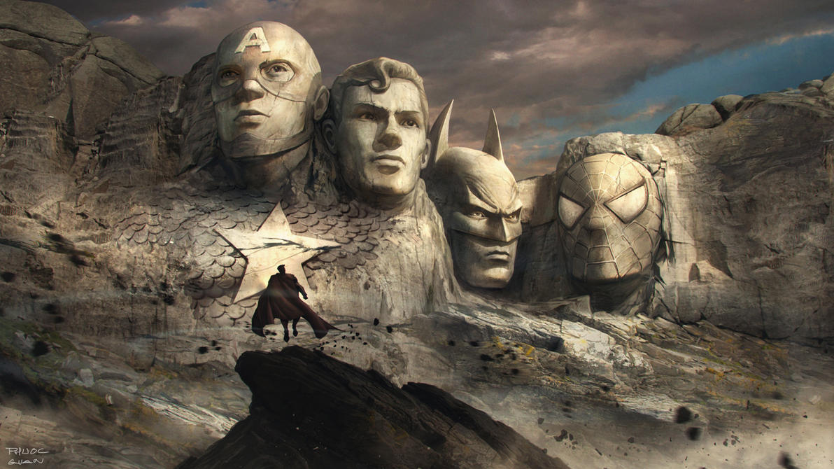 Rushmore mountain: superheroes version by nkabuto