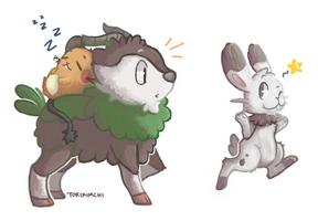 The cute trio by Tokiball12345