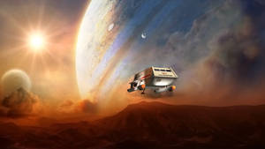 Galileo leaving jupiter airspace