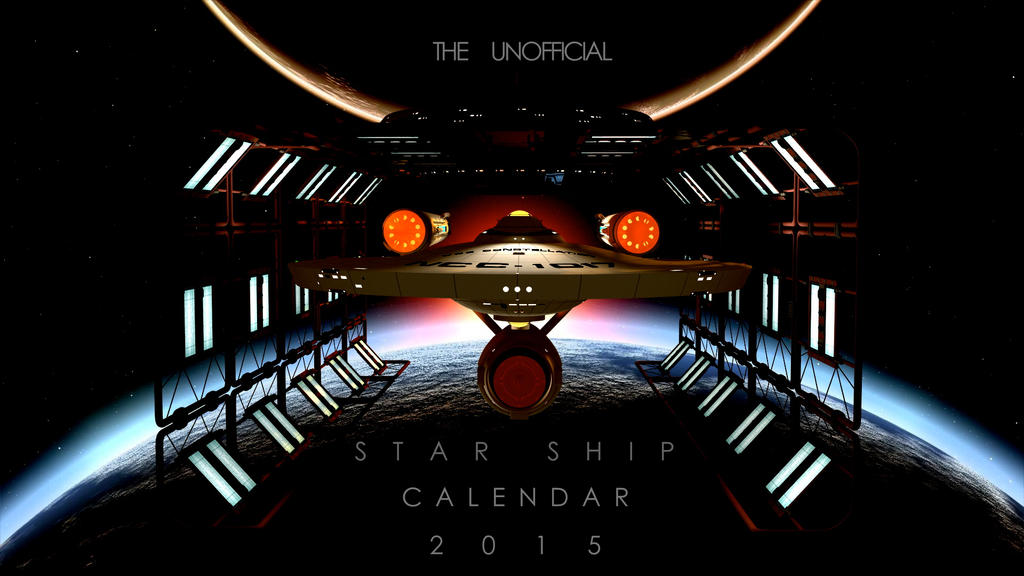 STARSHIP CALENDAR 2015 by PUFFINSTUDIOS