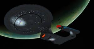 Enterprise D In Low Orbit