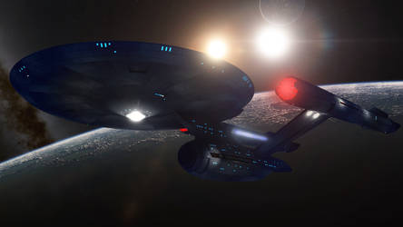 Star Trek Discovery The Enterprise by PUFFINSTUDIOS