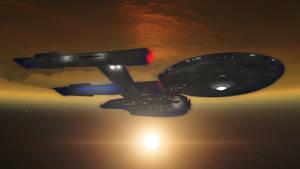 Enterprise In Low Orbit