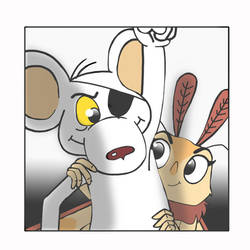 Mr Moth and Mrs Mouse by PUFFINSTUDIOS