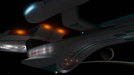 Enterprise B Closeup!! by PUFFINSTUDIOS