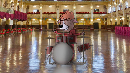 Playing On The Drums Pose! by PUFFINSTUDIOS