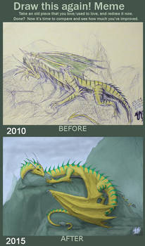 Golden-green dragon: 5 years after