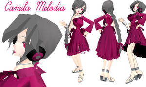 Camila Melodia MMD MODEL by XxRitsukaxAoyagixX