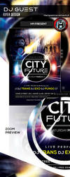 Futurism City Flyer Design by hendradeviantart