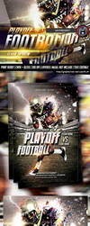 FootBall Play Playoff Flyer Design by hendradeviantart