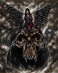 Dark Angel in Skull-150 by KOLEPSY