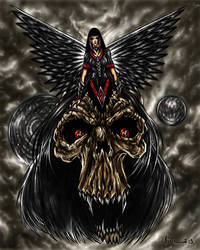 Dark Angel in Skull-150 by KOLEPSY