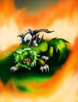 AT  Wk Wolfwrath protect Maya knight by Meta-Kaz