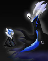 At Mecha meet Abyss WD Gaster by Meta-Kaz