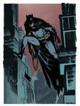 Chris Samnee Batman warm up colours