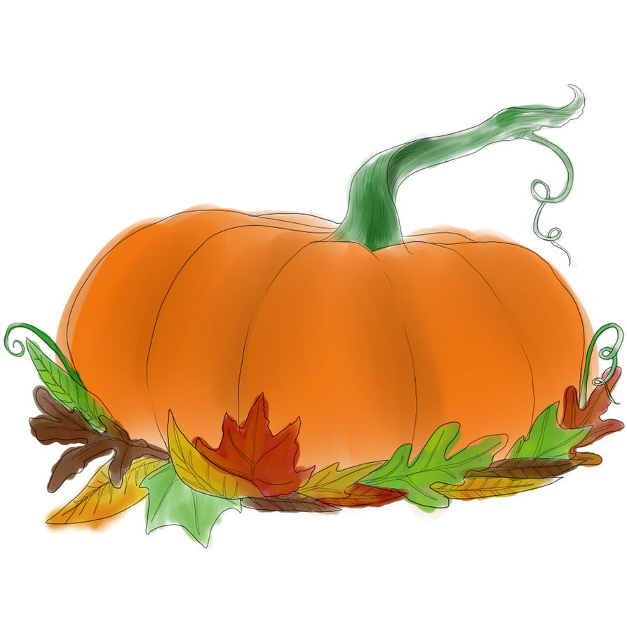 Drawlloween 6 - Pumpkin by GalanorBrighteye