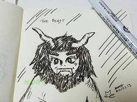 A doodle a day - The Beast