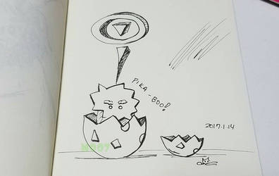 A doodle a day - pika-boo