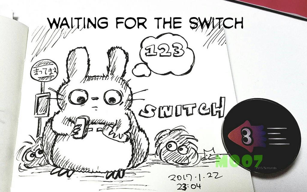 A doodle a day - Waiting for the Switch by Merc007