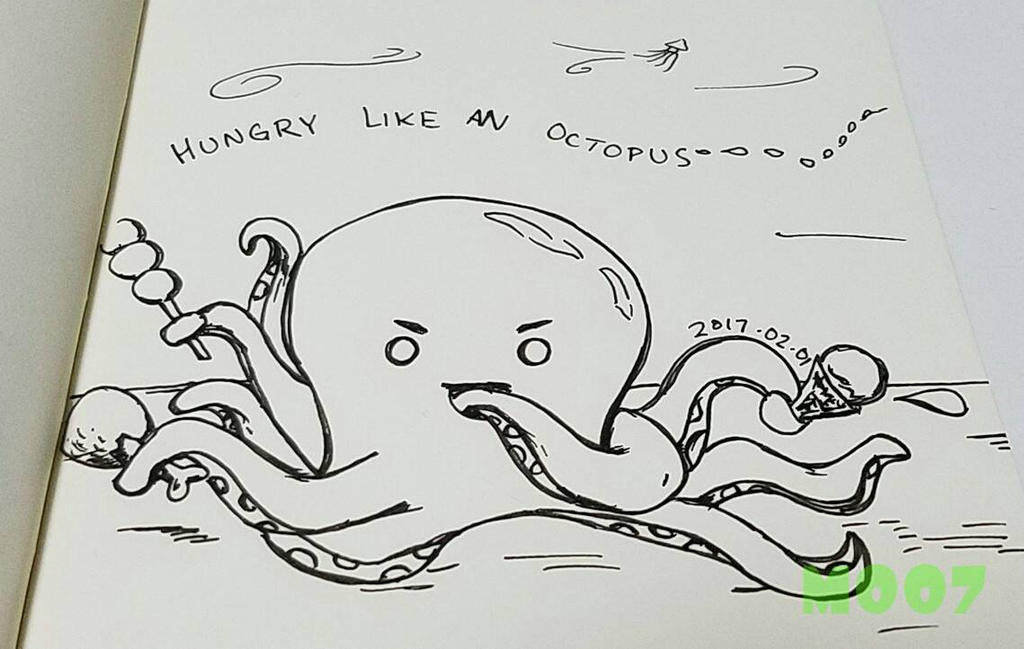 A doodle a day - hungry by Merc007