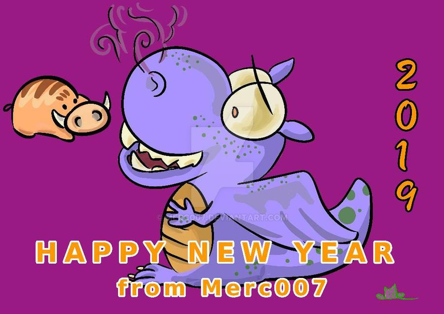 Happy New 2019 Year  by Merc007