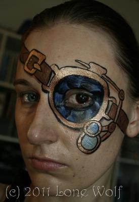 Steampunk Facepaint Eyepatch by lone-wolf-dk