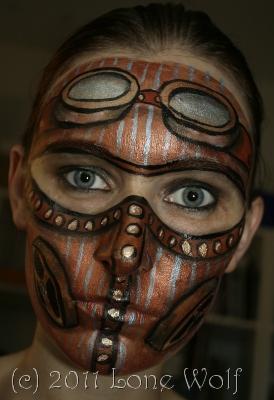 Steampunk Facepaint Mask by lone-wolf-dk
