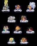 Final Fantasy Dissidia Hero Mugshots by CarlosVanFierst