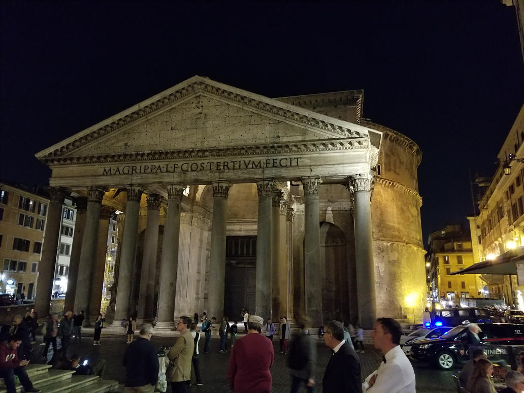 The Pantheon at night by xechon