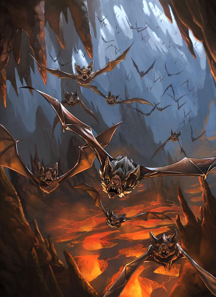 Vampiric Bats by kikicianjur