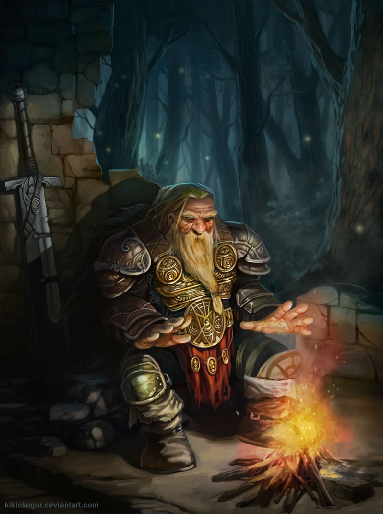 Raza: Enano. Dwarf_by_kikicianjur-d3ldn5i