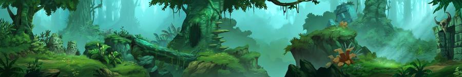 jungle background by kikicianjur