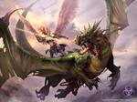 Angel vs dragon zombie