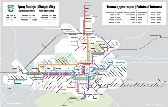City of Skopje - Public transport map