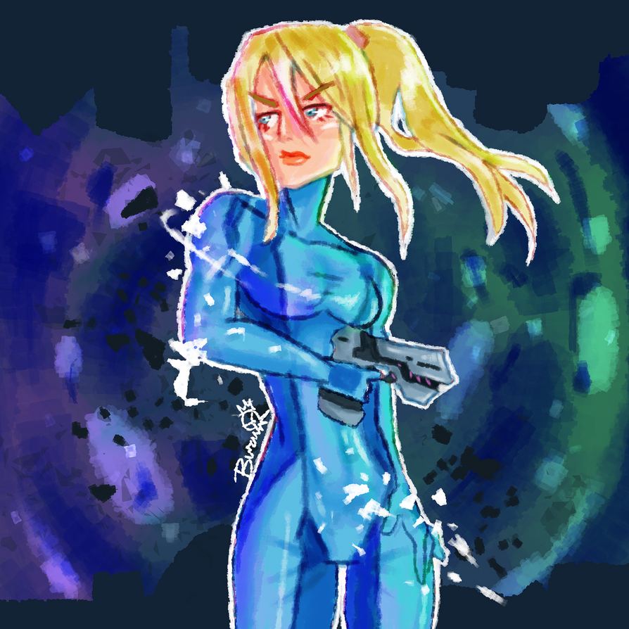 Intergalactic Bounty Hunter by BusyBuzu