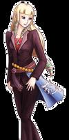 Zelda in a suit
