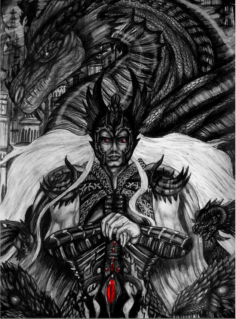 elric of melnibone dragon emperor by emeraldnephilim8 on deviantart. Black Bedroom Furniture Sets. Home Design Ideas