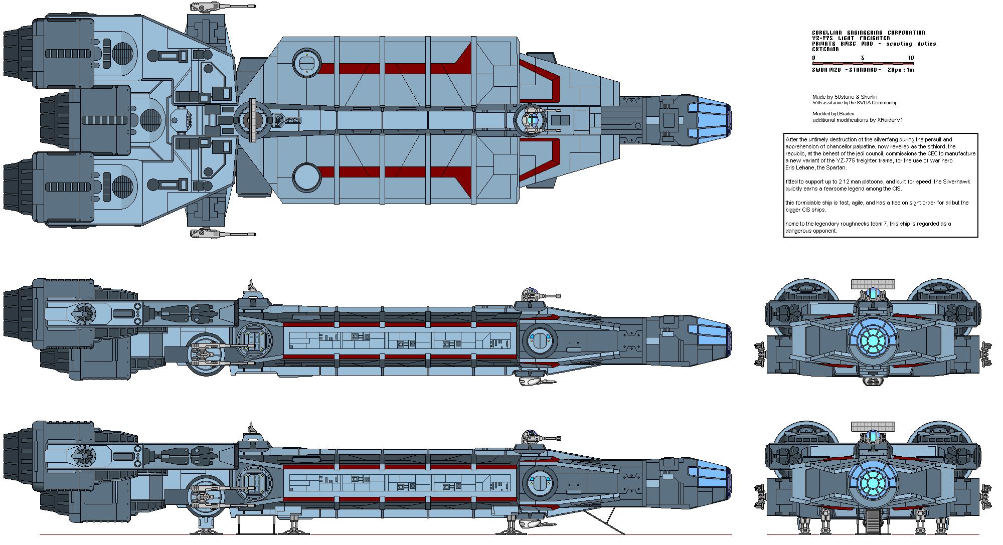YZ-775-A silverhawk external by XRaiderV1