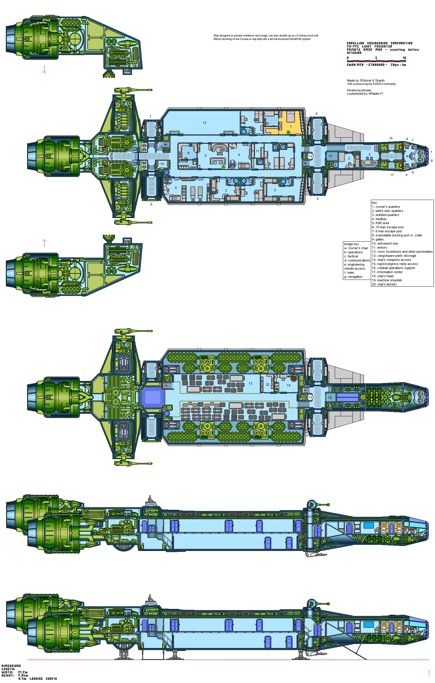 Star Wars Floor Plans Yz 775 A Silverhawk Internal By Xraiderv1 On Deviantart