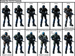Noble Six B-312 Cassie armor evolution sequence