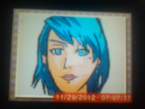 Franziska Von Karma drawn on DSI Art Academy Color by gamemaster8910
