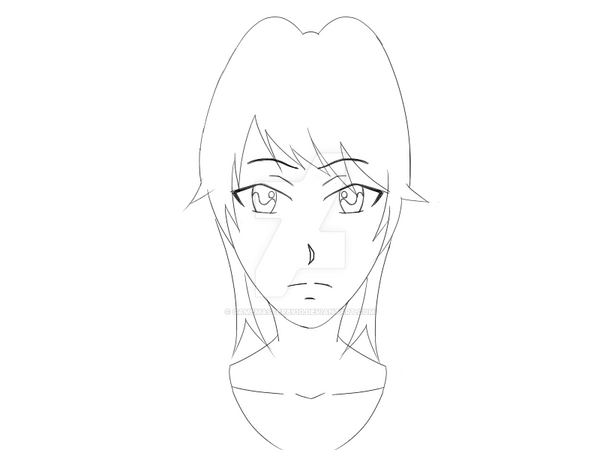 Yandere chan yandere simulator lineart by gamemaster8910 for Yandere simulator coloring pages
