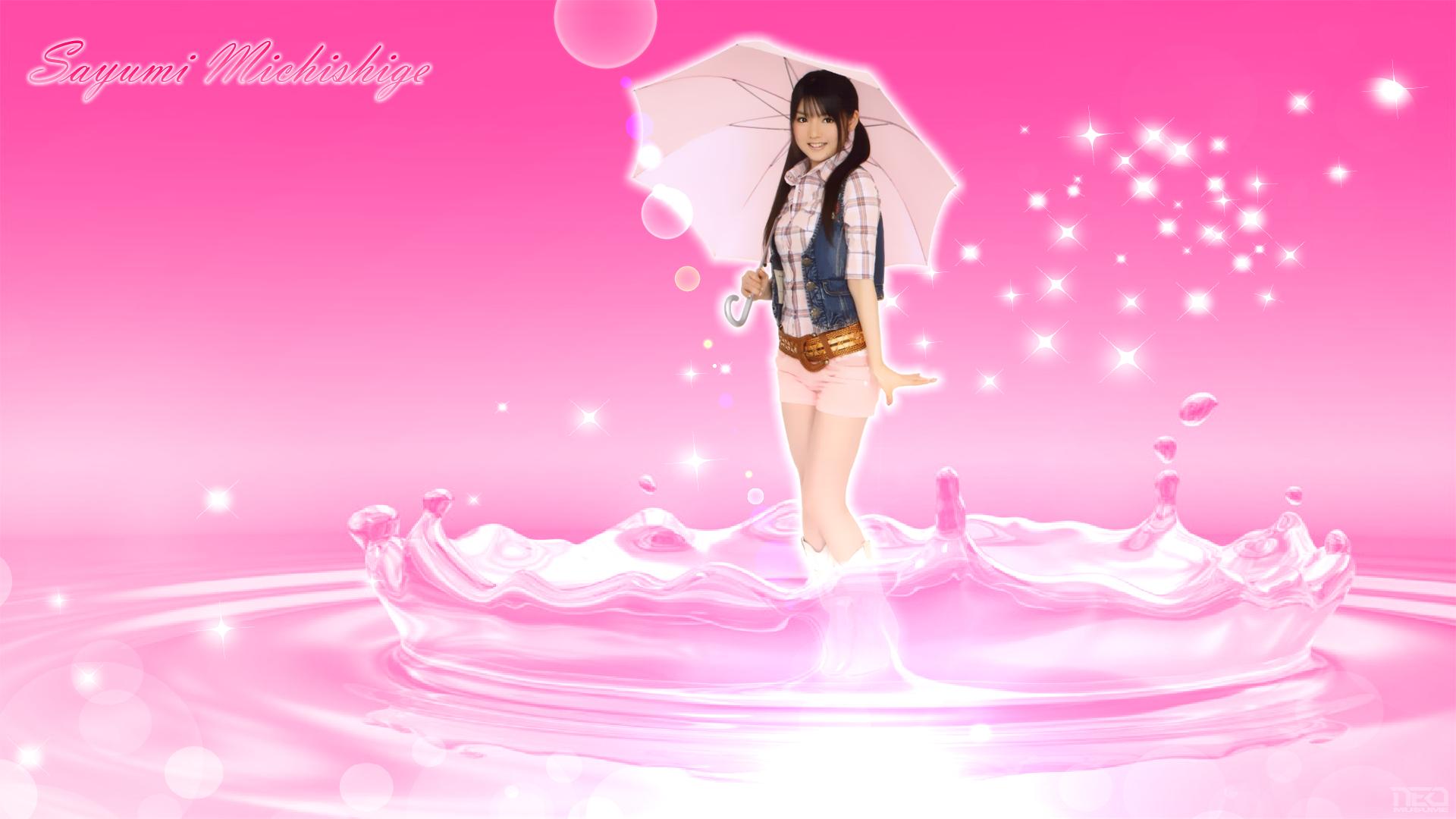 Sayumi Michishige Water Pink by NEO-Musume on DeviantArt